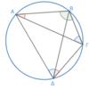 第3巻命題22 円に内接する四角形