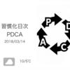 eラーニングでぐったり[習慣化日次PDCA 2018/03/14]