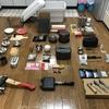 無印ボックスの中身、全部出す!キャンプ道具を60アイテムも収納してた