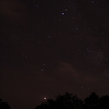 流星群と天の川