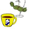 パンダの喫茶店「カフェ 群青パンダ」5  パンダのイラスト