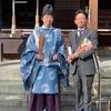 """津江神社へ""""巨峰ドレッシング""""を奉納。"""