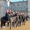 ロンドン08 バッキンガム宮殿、交替未遂と馬の落とし物