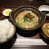 コントラバス練習後の夜ご飯。金沢市新保本にあるチョップスティックで、冬季限定メニュー冬の旨だし和風牛もつ鍋。
