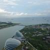 マリーナベイサンズより シンガポール海峡 お船たくさん