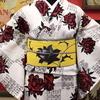白地薔薇浴衣×黒薔薇絽名古屋帯