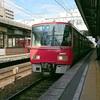 名古屋本線をいくあっかい電車 - 2018年4月25日