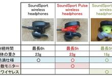 BOSEのイヤホンSoundSport wirelessシリーズ比較。pulseは何が違う?