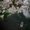 【250】千代田区九段南 月と桜