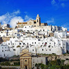 【イタリアの街】プーリア州オストゥーニ;白い迷宮の街