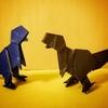 おりがみ:ティラノサウルス(Origami : Tyrannosaurus)