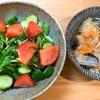 サラダと八宝菜