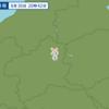 午後8時42分頃に群馬県北部で地震が起きた。