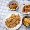 昼食:炊き込みご飯を焼き飯に