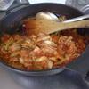 幸運な病のレシピ( 1849 )昼:「レトルトミートソース」+「茹キャベツ」=お手軽パスタソース