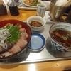 神田【飛梅 神田西口店】みやぎ秋の三色丼と白石温麺のセット ¥880