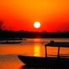 フローレス島から眺めるペテンイツァ湖の夕焼けー今日の1枚