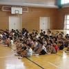 1年生:学習発表会 体育館で練習