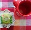 今日のおやつはパスコのしっとり抹茶とブラックコーヒー