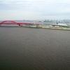 神戸大橋空撮、風が強いとドローンの操縦は非常に難しいです。エールストライクに換装して風に対応してみましたが、フライト中止
