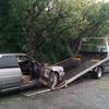 千葉市緑区からレッカー車で車検切れパンクの不動車を廃車の引き取りしました。