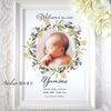 メモリアルポスター 赤ちゃんの記念に♪ 春の訪れを感じるミモザのリースのデザイン