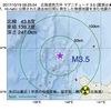 2017年10月19日 06時25分 北海道西方沖でM3.5の地震