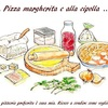Pizza margherita e alla cipolla「ピッツァ マルゲリータと玉ねぎのピザ」