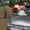 スリムなルーフラックで冬キャンプの積載量増加を検討中