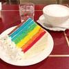 虹色のしあわせ♡ビッグレインボーケーキ(SAMOVAR @横浜)