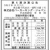 株式会社バーガーキング・ジャパン 第6期決算公告