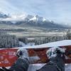 レイクルイーズで3年ぶりのスノーボード