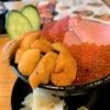 築地ランチで海鮮丼!本マグロと国産ウニといくらの贅沢3点盛り!【虎杖】