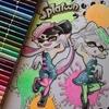 こどものぬりえスプラトゥーン☆レビュー&シオカラーズをホルベイン色鉛筆で塗ってみました
