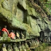 庚申塔をさがしてたらたまたま見つけた横穴墓 杵築市の史跡 又井横穴墓