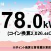 5/16の発電量は78kWh