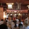 アメリカ ローレンス市青少年訪問団 参拝。