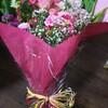 貰った花束を。