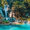 クアンシーの滝:大自然の中にある天然のプール【ラオス:ルアンパバーン】