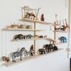 子供のフィギュア棚。IKEAのウォールシェルフをリメイク