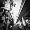 神戸)新在家駅周辺散歩。HUAWEI Mate 20 Proで撮影。Photoshop Express「ピンホール」で加工。