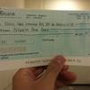 ガス代を小切手で支払う