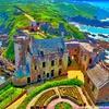 ヨーロッパの城の写真を鈴木英人風イラストに加工してみた