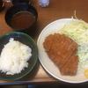 むさしやで上ロース定食(大門・浜松町)