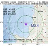 2017年09月02日 14時33分 北海道西方沖でM3.4の地震