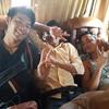 カンボジア、シェムリアップから12時間かけてシハヌークビルへ社員旅行!子供のようにはしゃいだな~(^^)