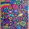 絵の新作「虹をたべたねこ」
