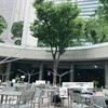 無料休憩所 新宿アイランドタワーパティオ広場 お弁当の持込みも出来て、オススメです