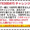 「FX30DAYSチャレンジ」を実践してみて…。
