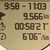 【マラソン日記】この秋初の1000m×5本インターバル走
